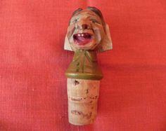 vintage carved wine stoppers -