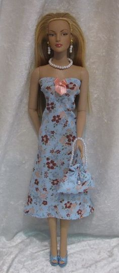 SYDNEY CHASE Tyler Wentworth Brenda Starr Doll Clothes #20 Dress, Purse, Jewelry #HandmadebyESCHdesigns