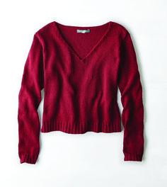 Don't Ask Why Cropped V-Neck Sweater, $49.95, ae.com   - Seventeen.com