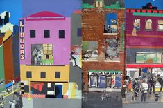 Romare Bearden collages.