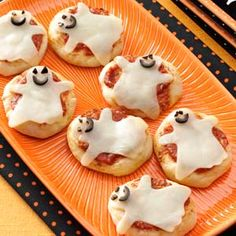 Kid-Size Ghost Pizzas! English muffins, pizza sauce & mozzarella cheese make this a not-so-spooky after-school treat.  | Safeway