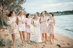 We LOVED the color scheme at this vintage chic beach themed wedding hosted in our Tavern Ballroom