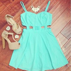 Outfits. Mint Teen fashion Cute Dress! Clothes Casual Outift for • teens • movies • girls • women •. summer • fall • spring • winter • outfit ideas • dates • school • parties mint cute sexy ethnic skirt