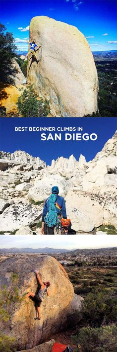 Are you looking for some easy outdoor climbing spots in San Diego? Here are the Best Beginner Spots for Rock Climbing in San Diego County. Visit California, California Travel, Anza Borrego State Park, Places To Travel, Places To Visit, San Diego Area, San Diego Travel, Escalade, Survival