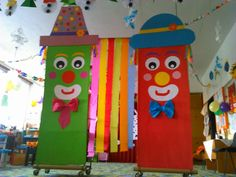 Circus Theme Classroom, Art Classroom, Circus Birthday, Birthday Party Themes, Children's Day Activities, Preschool Weather, Diy And Crafts, Crafts For Kids, Carnival Masks