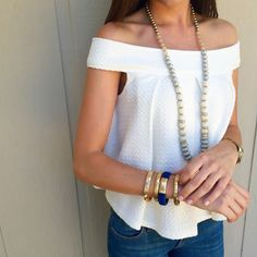 Girl Meets Gold | Summer Style Click through to shop the look.