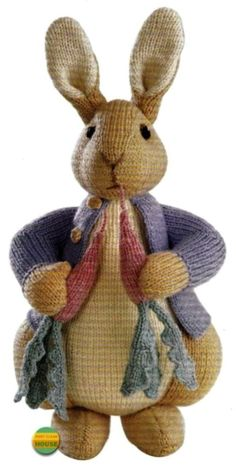 ALAN DART -  PETER RABBIT  - BEATRIX POTTER ORIGINAL TDB  TOY KNITTING PATTERN #AlanDart