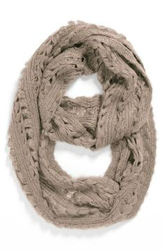 Capelli of New York Pointelle Infinity Scarf (Juniors) available at #Nordstrom
