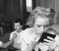 Molly Ringwald & Jon Cryer on the set of Pretty in Pink,1986   (oh John)