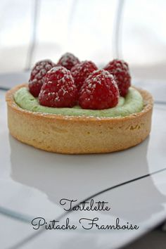 tartelette pistache/framboise