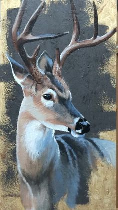 Hert – Susanne Busch – The post Hert – Susanne Busch – a Wildlife Paintings, Wildlife Art, Animal Paintings, Animal Drawings, Deer Paintings, Deer Drawing, Deer Art, Pictures To Paint, Painting On Wood