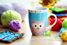 Enjoying the simple things of the holiday season… Christmas ornaments, Christmas tree, Christmas market and cookies, of course. Cute Crochet, Knit Crochet, Colorful Owl, Owl Mug, Cute Cups, Stay Warm, Owls, Crochet Projects, Crocheting