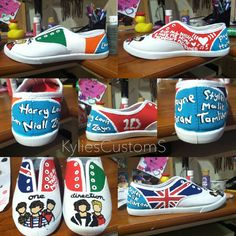One Direction Shoes on Etsy, $55.00