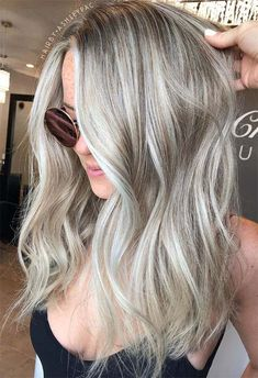 63 Cool Ash Blonde Hair Color Shades: Ash Blonde Hair Dye Kits to Try Medium Ash Blonde Hair, Ash Blonde Hair Balayage, Cool Ash Blonde, Ash Blonde Hair With Highlights, Blonde Hair Colour Shades, Silver Blonde Hair, Blonde Hair Looks, Dyed Blonde Hair, Blonde Roots