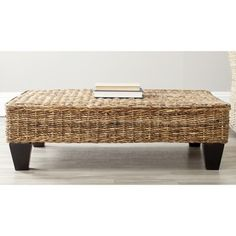 Safavieh Leary Natural Wicker Bench | Overstock.com Shopping - Great Deals on Safavieh Coffee, Sofa & End Tables