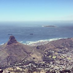 Top of Table Mountain in iKapa, Western Cape