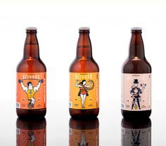 Inspired by old circus posters, Mundial has created more than just a bunch of beer labels. They've created a stage upon which each new beer is a performer. Beer Packaging, Beverage Packaging, Craft Beer Labels, Wine Labels, Beer Label Design, Beer Company, Beer Brands, Packaging Design Inspiration, Packaging