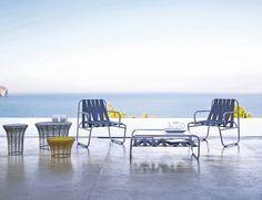 Tejidos cruzados en http://www.elle.es/elledeco/espacios/muebeles-exterior-playa  Dozequinze collection design of Francesco Sillitti for #gandiablasco