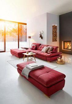 Megasofa In Grau Rot Schwarz Textil Sofas Couches Pinterest