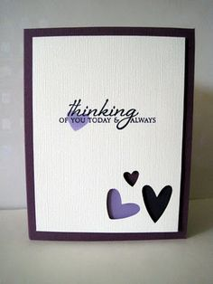 Love this cards and all the others on her blog...simple and just beautiful