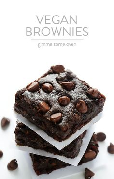 Vegan Brownies -- made easy with everyday ingredients, including avocado! | gimmesomeoven.com