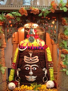 Tapkeshwar Mahadeva. A Shiva Lingam made from hundreds of thousands of Rudraksha beads.