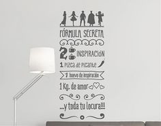 "#Vinilos #Textos #Decorativos ""Fórmula Secreta""  http://www.ebrevinil.com/b3683-vinilos-textos-decorativos-formula-secreta-03500"