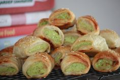 chicken, ricotta & pesto pastries - these were REALLY yum Whole Food Recipes, Cooking Recipes, Best Party Food, Pesto Chicken, Good Food, Fun Food, Pastries, Kids Meals, Catering