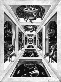 loop infinite perspective symmetry escher