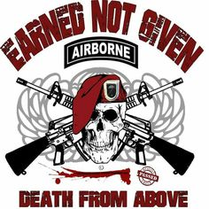 Airborne Army, Airborne Ranger, 82nd Airborne Division, Military Humor, Military Love, Military Art, Airborne Tattoos, Daddy Tattoos, Military Tattoos
