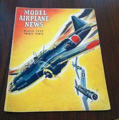 Vintage WW11 Era Model Airplane News Magazines by cerritorose