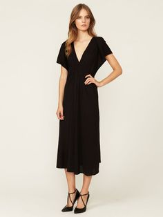 Perfect for a summer gallivant to Europe.  Smocked Wool Jersey Midi Dress by Vanessa Bruno on Gilt.com