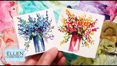 Cool vs Hot Tones Watercolor loose Flower painting/ Mini Monday Madness Watercolor Cards, Watercolor Flowers, Watercolor Ideas, Painting Flowers, Diy Painting, Painting & Drawing, Painting Tutorials, Your Paintings, Floral Paintings