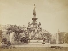 Memorial Fountain in Kelvingrove Park, Glasgow, 1877, Thomas Annan, albumen silver print, from Photographic Views of Loch Katrine. The J. Paul Getty Museum