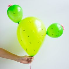 Cactus balloons - because why not?!