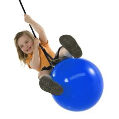 Let your little ones swing to new heights on the Buoy Ball by Swing-N-Slide.  This swing offers a comfortable ride with over 16 inches diameter for growing kids.  Features air valve for easy inflation and rope.  Attaches to swing hanger for easy installation.  Compatible with most backyard play sets.     http://www.swing-n-slide.com/352-Buoy-Ball.aspx?source=pin0731