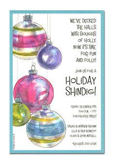 Christmas Open House Invitations - Christmas Open House Invitations for special events