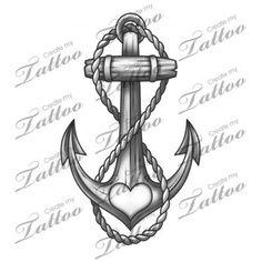 Bildergebnis für anchor tattoo vorlage