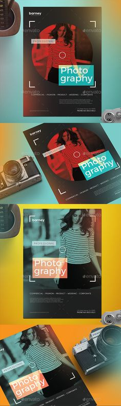 Photography Flyer — Photoshop PSD #brochure #modern • Available here → https://graphicriver.net/item/photography-flyer/18192125?ref=pxcr