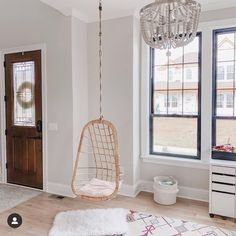 I am blown away at how beautiful this house from Shannon is! 😍 her entire feed is so gorgeous you must go… Blown Away, How Beautiful, Hanging Chair, Holi, Modern Farmhouse, Smoke, Living Room, Furniture, Instagram