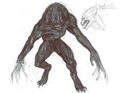 Tobias Kwan - The Order: 1886 · Concept Art Fantasy Creatures, Mythical Creatures, Dark Fantasy, Fantasy Art, Arte Dark Souls, Vampire Masquerade, Werewolf Art, Creature Drawings, Creatures Of The Night