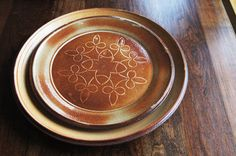 "Erin Cartmell- Large Rust and Cream ""Nutmeg"" Stoneware Serving Platter. $40.00, via Etsy."