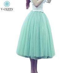 Women Girls TuTu Skirts 2015 Autumn Winter Female Mesh Tulle 5 Layers High Waist Knee-Length Ball Gown Pleated Skirts B1480001