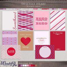 Pocket Scrapping :: Pocket Cards :: Sweetest Heart Pocket Cards