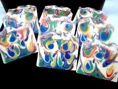 Drop Swirl #51 Handmade Soaps, Magazine Design, Soap Making, Making Ideas, Gift Wrapping, Bath Bomb, Creative, Lab, Addiction
