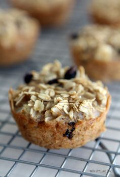 On-The-Go Apple Baked Oatmeal Cakes via With Style and Grace Blog/ advocare friendly recipes