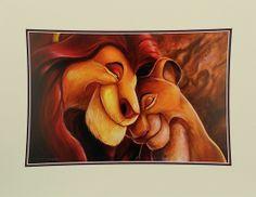 Mufasa and Sarabi ''Pride Love Everlasting'' Deluxe Print by Darren Wilson