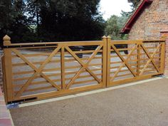 Driveway gates require much thought and planning. Done well they can create a beautiful entrance to your home, says Jason Orme Farm Entrance, Driveway Entrance, Tor Design, Gate Design, Farm Gate, Fence Gate, Diy Driveway, Wooden Gates, Front Yard Fence