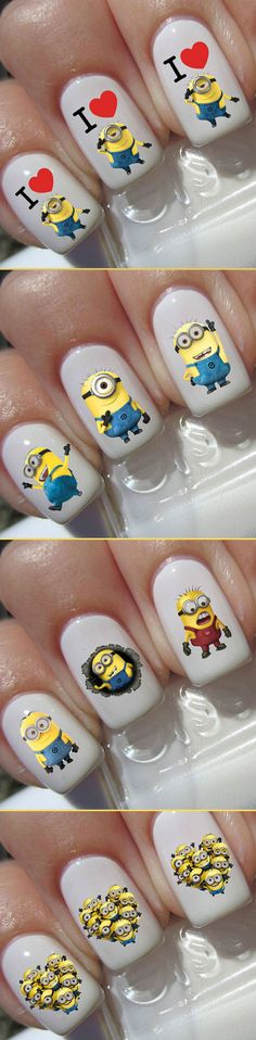 Adorable Minion Nail Art