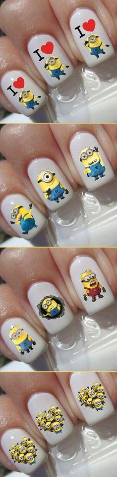 Adorable Minion Nail Art